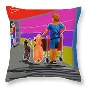 Petco Shoppers Throw Pillow