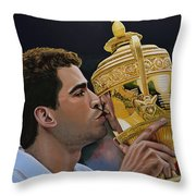 Pete Sampras Throw Pillow