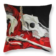 Pete The Skull Throw Pillow