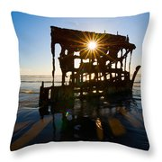 Peter Iredale Shipwreck, Fort Stevens Throw Pillow