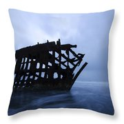 Peter Iredale Shipwreck Oregon 3 Throw Pillow