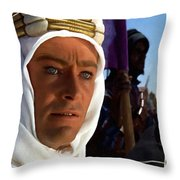 Peter Otoole And Omar Sharif In Lawrence Of Arabia Throw Pillow