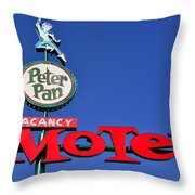 Peter Pan Motel Throw Pillow
