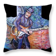 Peter Parcek Plays The Blues Throw Pillow
