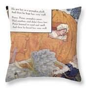 Peter Pumpkin Eater Throw Pillow