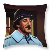 Peter Sellers As Inspector Clouseau  Throw Pillow by Paul Meijering