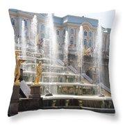 Peterhof Palace Fountains Throw Pillow