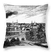 Petersburg, Virginia, 1856 Throw Pillow