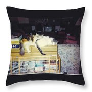 Petey And Emmie Throw Pillow