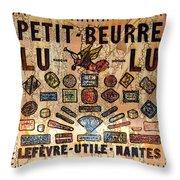 Petit- Beurre Lu Lu Throw Pillow