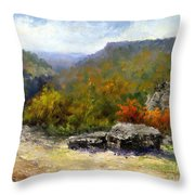 Petit Jean View From Mather Lodge Throw Pillow