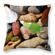 Petoskey Stones L Throw Pillow by Michelle Calkins
