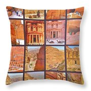 Petra Alive In Petra Jordan Throw Pillow
