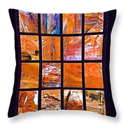 Petra Rocks Photo Assemblage In Petra-jordan   Throw Pillow