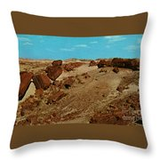 Petrified Forest National Park Throw Pillow