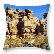 Petrified Forest Rock Formations Throw Pillow