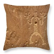 Petroglyph Wall Throw Pillow