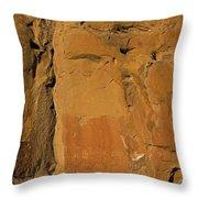 Petroglyphs   #1054 Throw Pillow