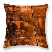 Petroglyphs Throw Pillow