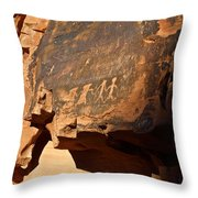 Petroglyphs Throw Pillow by Valeria Donaldson