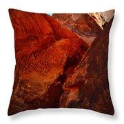 Petroglyphs Valley Of Fire Nevada Throw Pillow