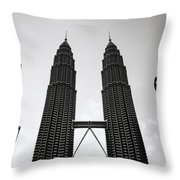 Petronas Dusk Throw Pillow