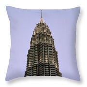 Petronas Pinnacle Throw Pillow