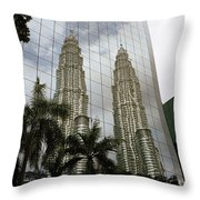 Petronas Reflecting Throw Pillow