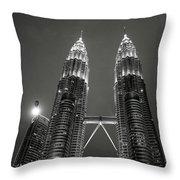 Petronas Towers At Night Throw Pillow