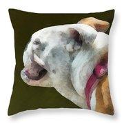 Pets - English Bulldog Profile Throw Pillow