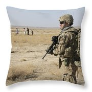 Petty Officer Maintains Security Throw Pillow