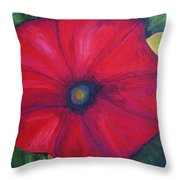 Petty Petunia Throw Pillow
