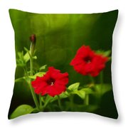 Petunia Dreams In The Woods Throw Pillow