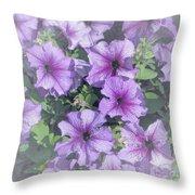 Petunia Patch Throw Pillow