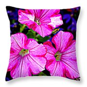 Petunia Rhapsody Throw Pillow
