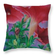 Petunia Skies Throw Pillow