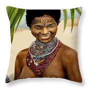 Peul  Princess Of Mali Throw Pillow