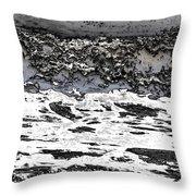 Pewter Martian Sea Throw Pillow