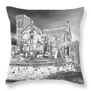 Pewter Skies Over The Kirk Throw Pillow