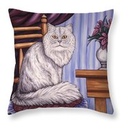 Pewter The Cat Throw Pillow