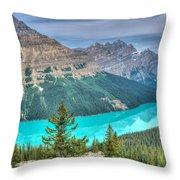 Peyto Lake 2 Throw Pillow