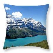 Peyto Lake October Throw Pillow