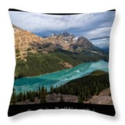 Peyto Lake Poster Throw Pillow