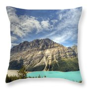 Peyto Lake Throw Pillow