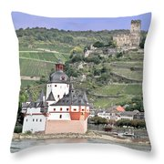 Pfalzgrafenstein With Burg Gutenfels  Throw Pillow