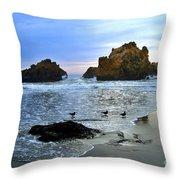 Pfeiffer Beach Big Sur Twilight Throw Pillow