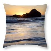 Pfeiffer Beach Sunset II Throw Pillow by Jenna Szerlag