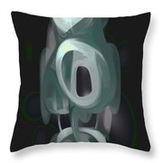Phantasm Pastel Abstract Throw Pillow