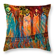 Phantom Fires Throw Pillow