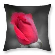 Phantom Rose Throw Pillow